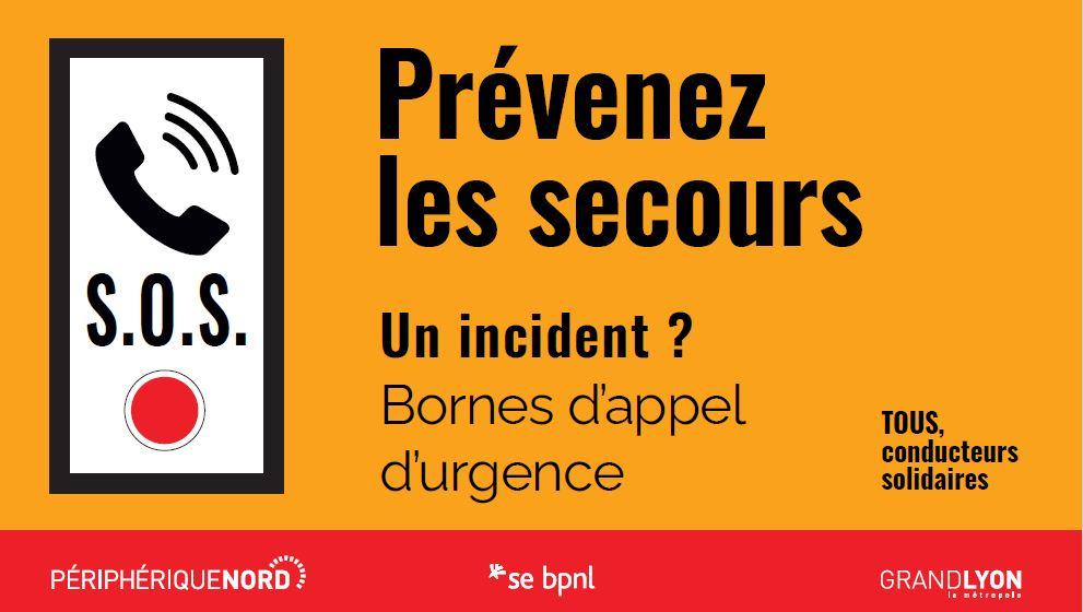 Campagne de sécurité à la couleur orange, sensibilisant aux comportements à adopter en cas d'incident en tunnel. Comme donner l'alerte en borne d'appel d'urgence.